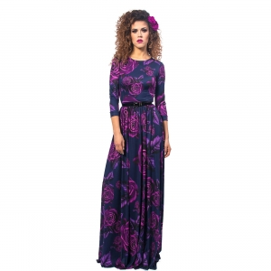 Suknia maxi w kwiaty - Helena Magic Rose