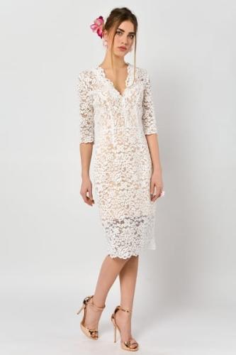 86e3137650 Przytulia - koronkowa sukienka ślubna koktajlowa
