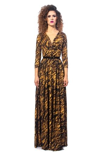 2e5fa8a302 Elle - Gold Zebra - wieczorowa suknia Milita Nikonorov - projektant ...