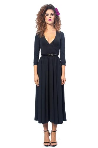 a743e0859d Brigitte - Black Night - rozkloszowana sukienka Milita Nikonorov ...