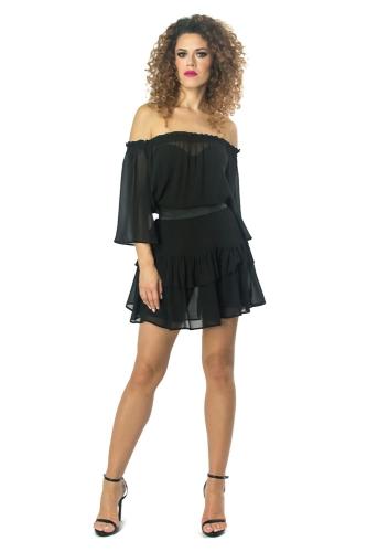 2db9b4aab2 Luna - jedwabna sukienka z falbanami