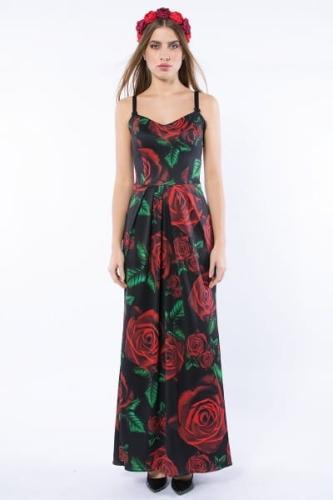 55fe590e3f Królowa Róża Maxi   Black - suknia wieczorowa o gorsetowym fasonie