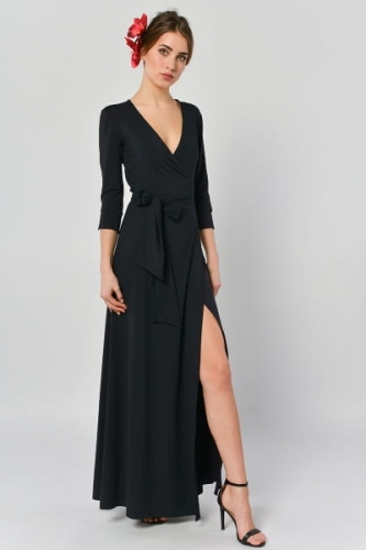 bf818c1437 Kava-kava - kopertowa sukienka maxi