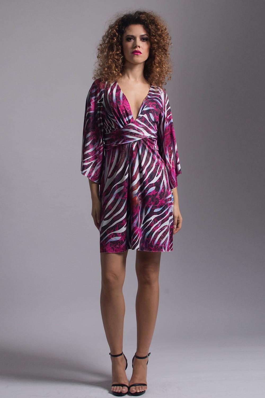 f54dcd8191dc4b Lori - wysmuklająca sukienka z szerokimi rękawami