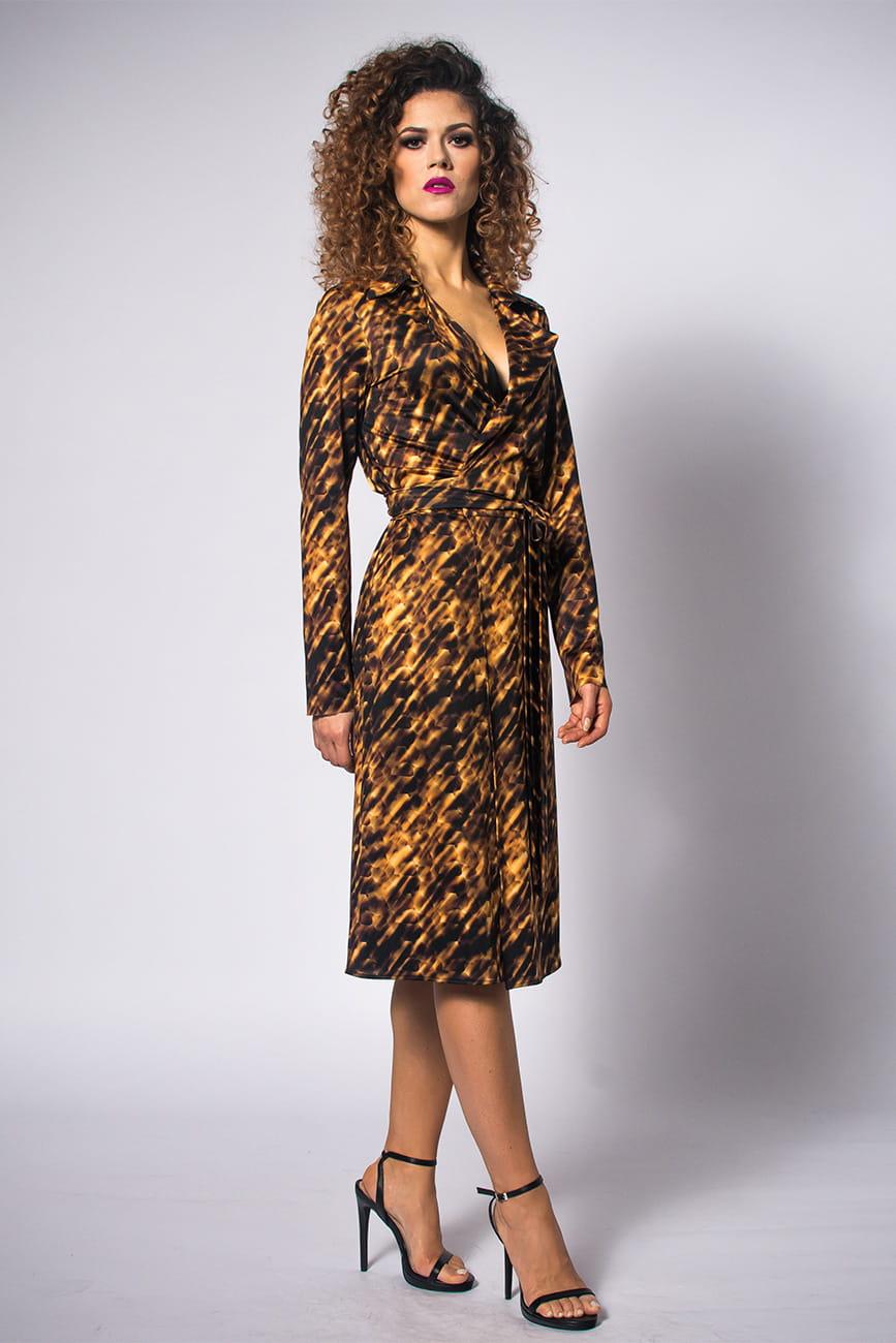 d2c3d280ed Gabriela Midi - Gold Zebra - żakietowa sukienka Milita Nikonorov ...