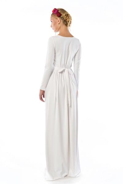 36ad8eab9e Cristina Patria 2 Maxi White   wysmuklająca biała suknia